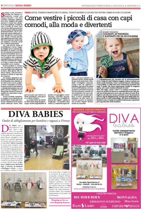 Speciale editoriale MODA BIMBO